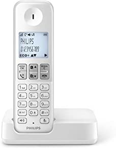 Philips D130WP/23 - Teléfono single inalámbrico (pantalla 1,8