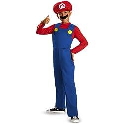 Disguise Nintendo Super Mario Brothers Mario Disfraz clásico para niños