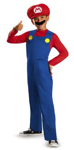 Disguise nintendo super mario brothers mario classic boys costume
