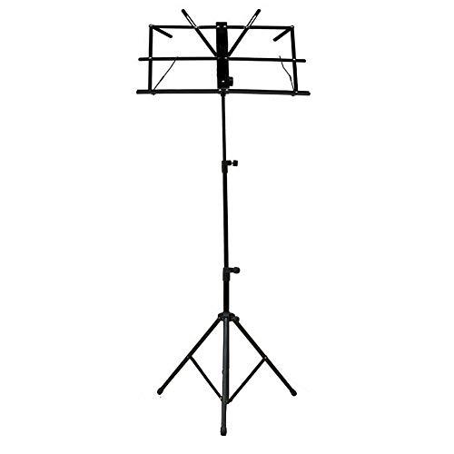 MultiWare Notenständer Notenpult Orchesterpult Höheverstellbar 50 - 124 cm mit Tasche Metallständer Stativ Schwarz mit Wasserdicht Tragetasche