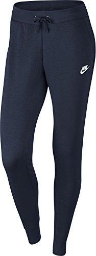 Nike W NSW Pant FLC Tight - Pantalon pour femme multicolore (Obsidian / Obsidian / White)