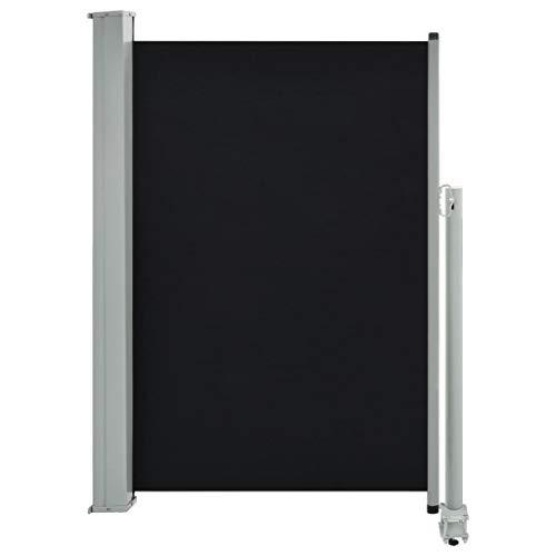 Schwarzes Ausziehbares (vidaXL Seitenmarkise Ausziehbar 120x300 cm Schwarz Sichtschutz Sonnenschutz)