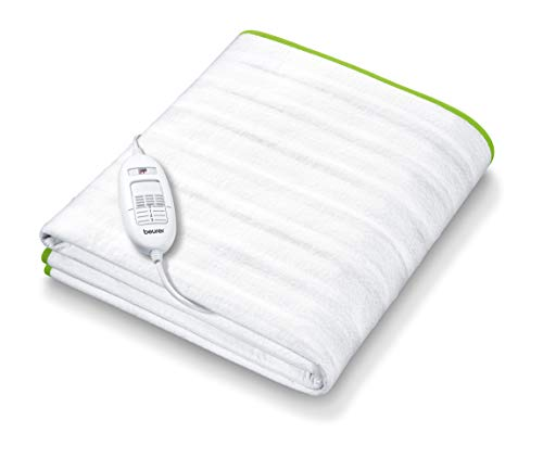 Beurer TS 15 Wärmeunterbett | Heizdecke mit Sicherheitsautomatik aus weichem Vlies und mit 3 Temperaturstufen | einfache Fixierung auf Bett und Matratze | waschbar bei 30⁰ | 150 x 80 cm