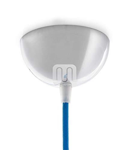 Baldachin | Abzweigdose | Verteilerdose zur Kabelabdeckung Ihrer Deckenlampe | Lampenkappe in chrom Ø 10 cm inkl Zugentlastung | Lampenbaldachin für alle Lampen geeignet