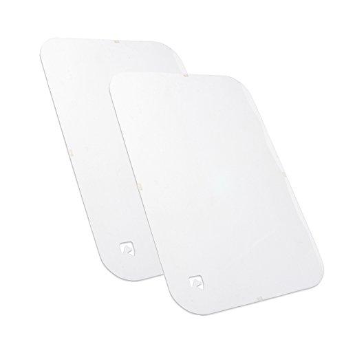 PETFECT Tür-Kratzschutz für Innen & Außen, transparent (90 x 60 cm); 2 Stück