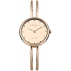 Fiorelli Women's Quartz Watch with Rose Gold Dial Analogue Display and Rose Gold Alloy Bracelet FO030RGM