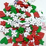 Futurekart Mixed Color Wooden Buttons Sewing Kids Scrapbooking DIY Craft Christmas (Set of 1)