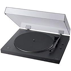Sony PS-LX310BT - Tocadiscos (Conectividad Bluetooth, admite Salidas de línea y Fono) Negro
