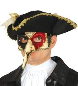 Maschera veneziana decorata musica naso