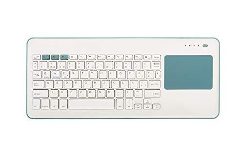 Silver HT - Teclado Inalámbrico Touchpad Smart TV