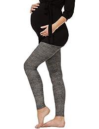 98a704ebe8d4 BeLady Damen Leggins Umstandsleggins für Schwanger Knöchellang Abnehmen Hose  mit Hoher Bund aus Baumwolle Viele…