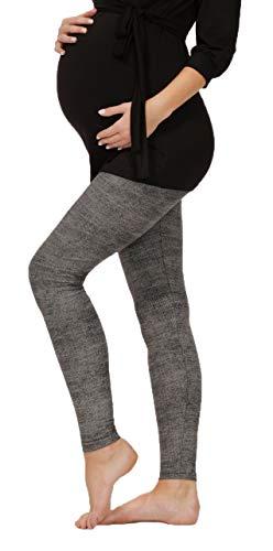 BeLady Damen Leggins Umstandsleggins für Schwanger Knöchellang Abnehmen Hose mit Hoher Bund aus Baumwolle Viele Muster 36,38,40,42,44,46,48,50,52 (Karolina, L - 40)