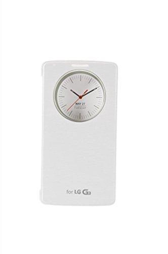 eforhome für für LG G3Qi Standard kabelloses Lade-Receiver Smart Wake up/Sleep View Fenster Seite Flip PU Leder Quick Circle Case (Schwarz), LG G3 Receiver - White (Lg G3 Bei T-telefon)