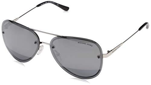 Michael Kors Damen LA JOLLA 11181Y 59 Sonnenbrille, Silver Tone/Blockgunmetalmirror,