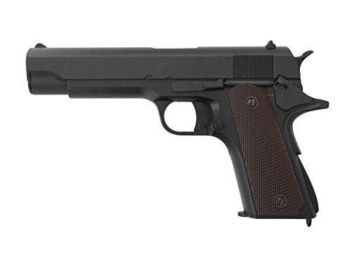 "Cyma CM.123 / 1911 ""Classic"" Softair / Airsoft Metal Slide AEP inkl. NIMH Akku & Lader < 0,5 J."
