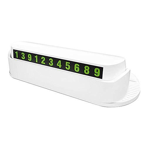 Asseny Auto Vorübergehend Parking Platte Leuchtend Nummer Aromatherapie Handyhalter Träger - Weiß - Refresh Aromatherapie