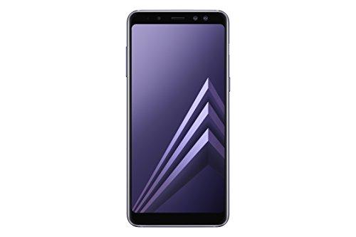 """Samsung Galaxy A8 - Smartphone de 5.6"""" (4G, Wifi, Bluetooth 5.0, Exynos 7885 Octa Core, 32 GB memoria interna, 4 GB RAM, cámara 16 MP, Android 7.0, versión española: incluye Samsung Pay) gris orquídea"""