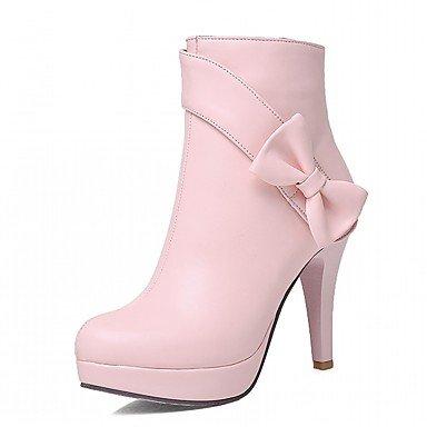 RTRY Scarpe Donna Pu Similpelle Autunno Inverno Comfort Novità Moda Stivali Stivali Stiletto Heel Round Toe Stivaletti/Stivaletti Bowknot Per US3.5 / EU33 / UK1.5 / CN32