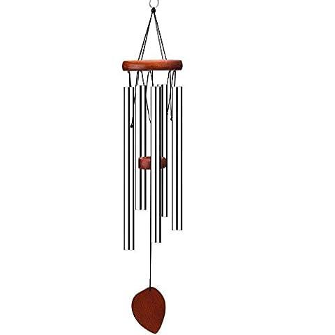 uniqooo Holz Wind Chimes, 55,9cm Länge, wohltuend, entspannend Sanfte Melodie, tolle Dekoration für Innen und Außenbereich Veranda Garten und Terrasse