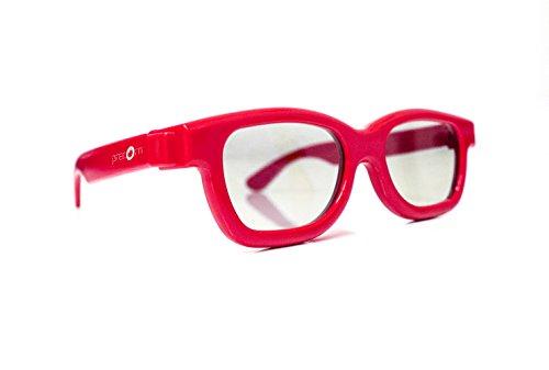 Gafas 3D para niños Universal gafas 3D pasiva para niños Cinema 3D de LG, Philips Easy 3D, Panasonic, Toschiba, Grundig y cines RealD en rojo en la marca NEW PRECORN