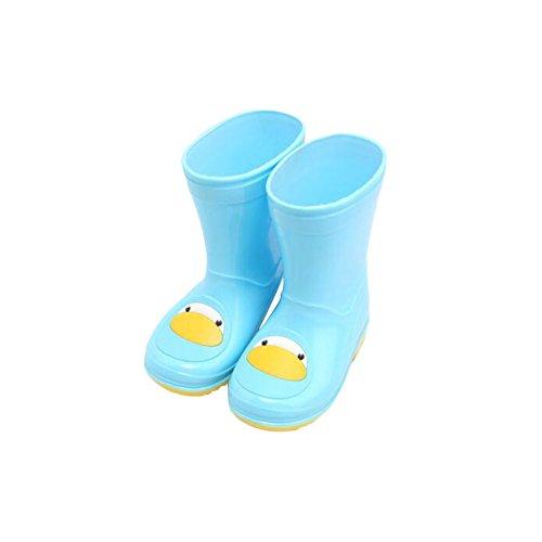 Zhuhaixmy Fashion Unisex Rutschfest Kinder Jungen Mädchen Rain Boots Regen Stiefel Wasserdicht Rain Shoes Rubberboots Regen Schuhe Blue