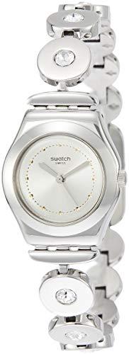 Swatch Orologio Analogico Quarzo da Donna con Cinturino in Acciaio Inox YSS317G