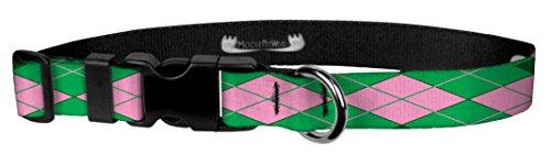 Moose Pet Wear Hundehalsband, Bedruckt, mit Muster, verstellbar, Verschiedene Designs und Größen, 3/4