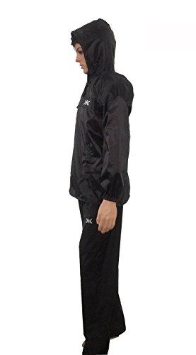 Killer Black Pt Rain Suit For Men With Hood And Front Zip (kgt-214)