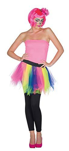 Rubie's Tüllrock bunt Regfenbogen Tutu für Damen Clown Zirkus Karneval (Kostüm Clown Tutu,)