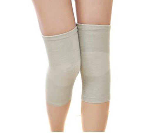Preisvergleich Produktbild TININNA Ultra Dünn Atmungsaktiv Elastic Bambus Knieorthese Knieschutz Kniewärmer Knie Knieschoner M