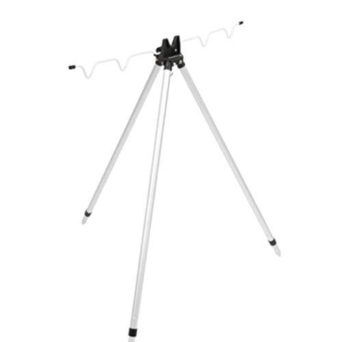 Hh001 Angelrute Halterung Aluminiumlegierung Teleskop Halterung Seefischerei Klappdreieck Halterung Angeln Werkzeuge Positionierung Halterung (Color : Silver, Size : 120CM)
