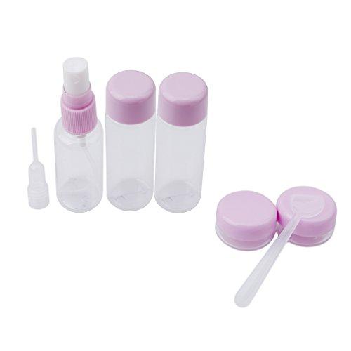 VWH 7 Pièces Bouteilles Portable Container Bouteille de Voyages Pour Maquillage Cosmétique Shampooing Gel Douche Violet