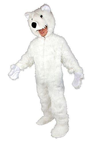 Karneval Erwachsenen Kostüm Eisbär Overall in Plüsch -