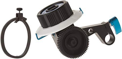 Neewer Folge Fokus mit 15mm Einzelstabklemme, Verstellbarer Zahnrad Ring Gürtel für DSLR Kameras DV Camcorder Film Videokameras für Schulterstützen, Stabilisatoren, Film Plattformen