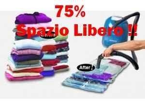 80 x 130 cm!!! busta salvaspazio per abiti sottovuoto armadio buste sacco sacchetti sacchi space bag misure: 80 x 130 cm