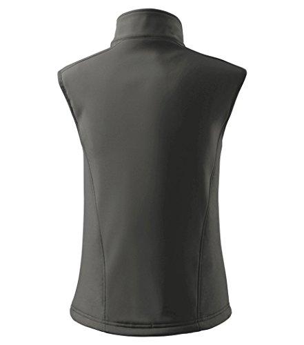 Dress-O-Mat Damen SOFTSHELLWESTE Weste Softshell Tailliert Stahl grau