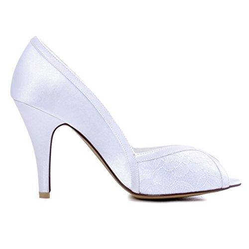 Minitoo MinitooUK-MZ8231, Sandales Pour Femme White-7cm Heel