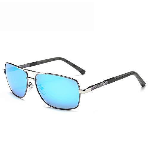 Shengjuanfeng Sonnenbrille Polarized Sports Driving 100% UV-Schutz für Männer oder Frauen Sonnenbrillen Accessoires (Farbe : Blau, Größe : Casual Size)