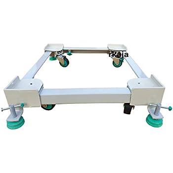 Irkaja Heavy Duty Front/Top Load Washing Machine Stand Trolley for 5kg, 5.5kg, 5.8kg, 6kg, 6.2kg, 6.5kg, 6.8kg, 7kg, 7.2kg, 7.5kg, 7.8kg, 8kg, 8.5kg, 9kg, 9.5kg, 9.8kg & 10kg Capacity (White)