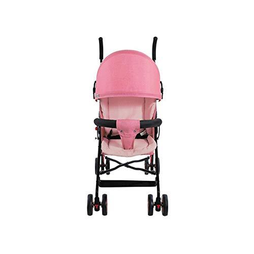 LK Cochecito Quick Fold Sillita De Paseo con SombrillaLigero Cochecito De Bebé,Pink