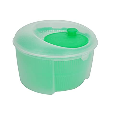 Plastic 24cm Salad Spinner for Drying Lettuce Kitchen Cooking Picnic (Green)