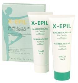 X-EPIL Haarbleichcreme Extra Sensitiv 2 x 40ml Entfärbt feine Härchen im Gesicht & am Körper
