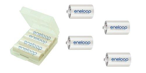 Sanyo Eneloop HR-3UTGB 4 Pack inkl.4x adaptateur Mono D (4x AA, 2000mAh)