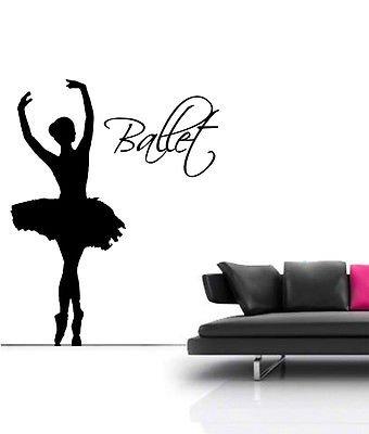 Dance Life 1,37 Meters-Grande decorazione da parete a forma di ballerina con decalcomania di rotazione, rosso, Medium - 59cm W x 75xm H
