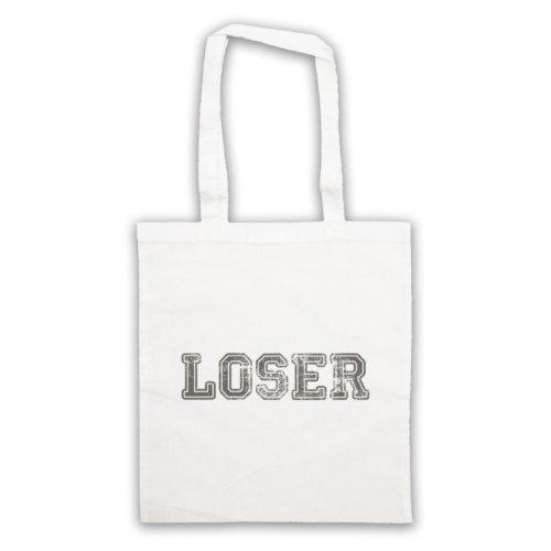 Loser Funny Slogan Tote Bag Bianco