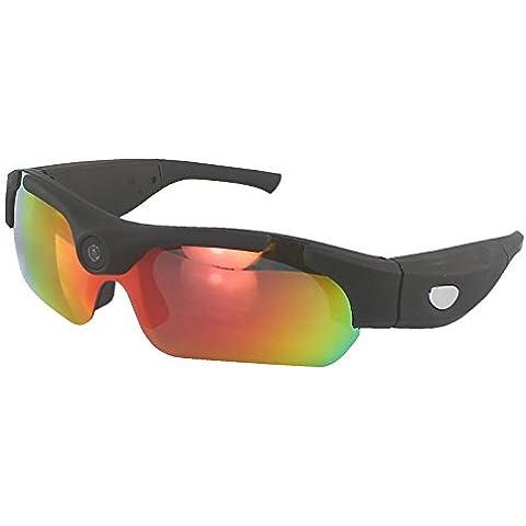 Gafas de sol S16 de Neelam® con modo de vídeo HD de 720P de registros de vídeo de hasta 30fps–Gafas de sol con grabador de vídeo, cámara DVR, videocámara con tarjeta de 8G, 5megapíxeles, 1280x 720,gafas