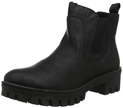 Rieker Damen 75750 Chelsea Boots, Schwarz (schwarz 00), 38 EU