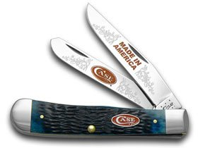 CaseXX XX Jigged Blue Bone Made in America 1/600 Trapper Limited Edition Pocket Knife Knives