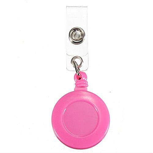 ID Card nacpy mit Schlüssel Ring Pull Gürtel Clip Halter Skipass schwere Pflicht Badge Pull Reel mit Strap Clip Pink -