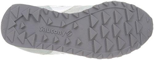 SAUCONY - Chaussure de sport fuchsia à lacets, en suède et synthétique, colorée, confortable et à la mode, fille, filles, femme, enfant Argent